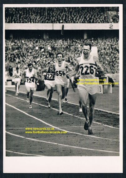 1956 DDR East German card Olympics Melbourne Chris Brasher GOLD 3000 metres steeplechase